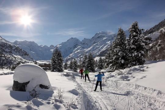 Ski-Langlauf im Oberengadin