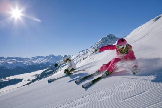 Skifahren in der Engadiner Bergwelt