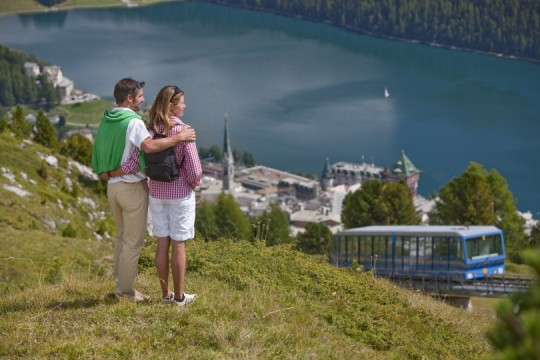 Sommeridylle in St. Moritz