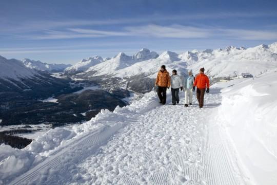 Winterwandern auf dem Philosophenweg auf Muottas Muragl
